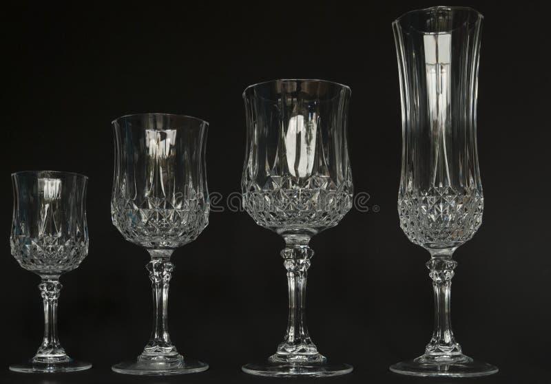 水晶玻璃酒 图库摄影