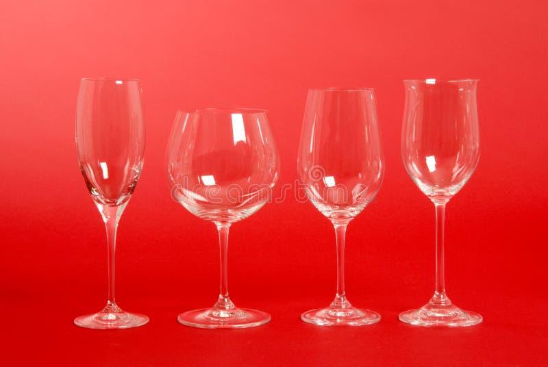 水晶玻璃酒 免版税库存照片