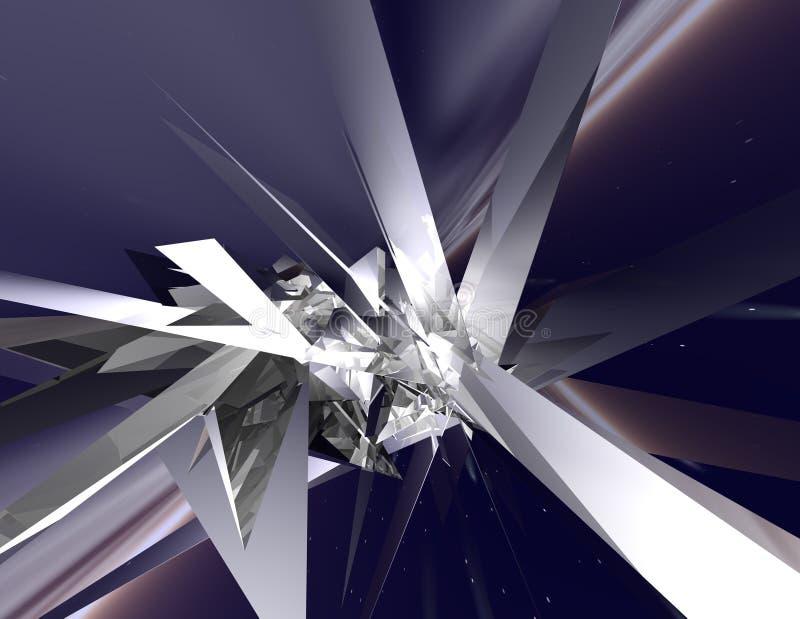 水晶空间 皇族释放例证