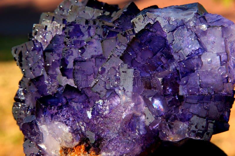 水晶萤石 库存图片