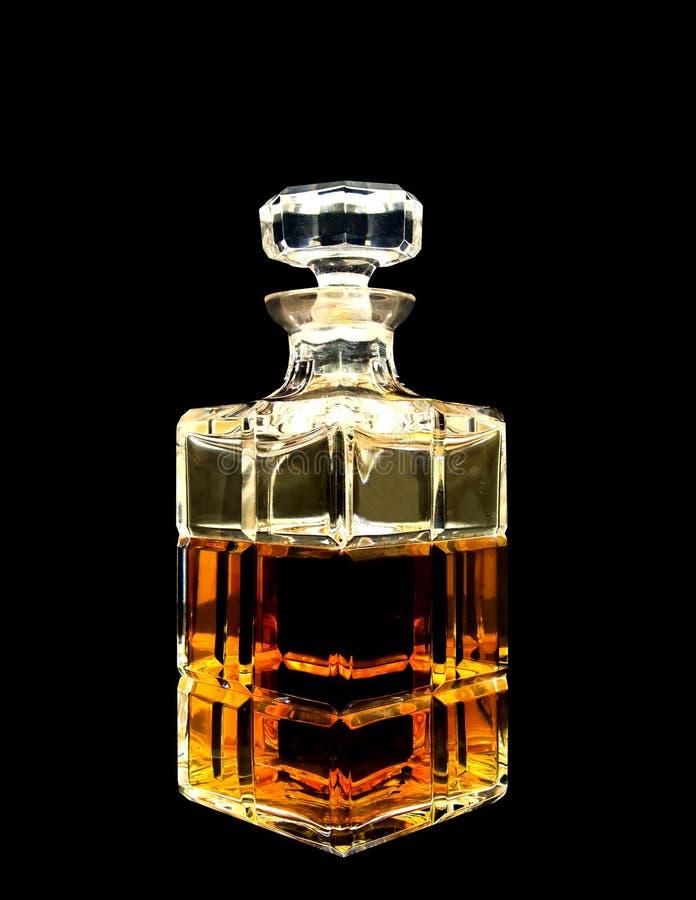 水晶蒸馏瓶威士忌酒 库存图片