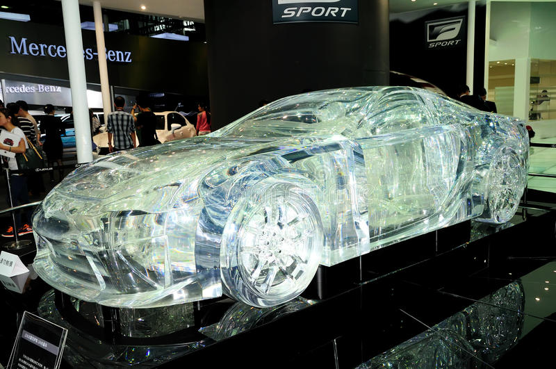 水晶设计LEXUS LF-A跑车 免版税库存照片