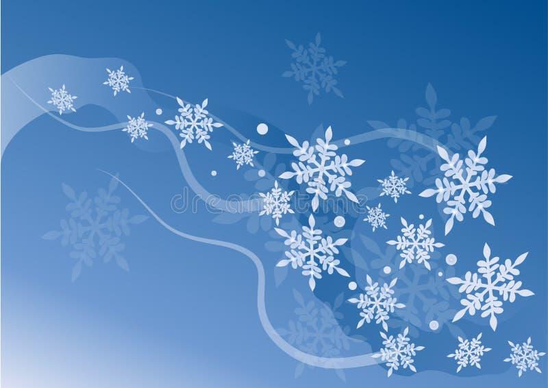 水晶雪向量 皇族释放例证