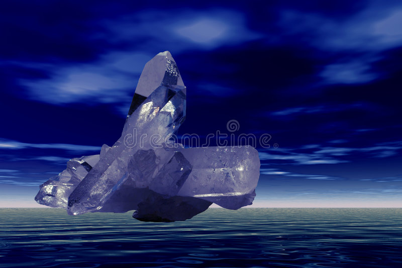 水晶飞行石英 免版税图库摄影