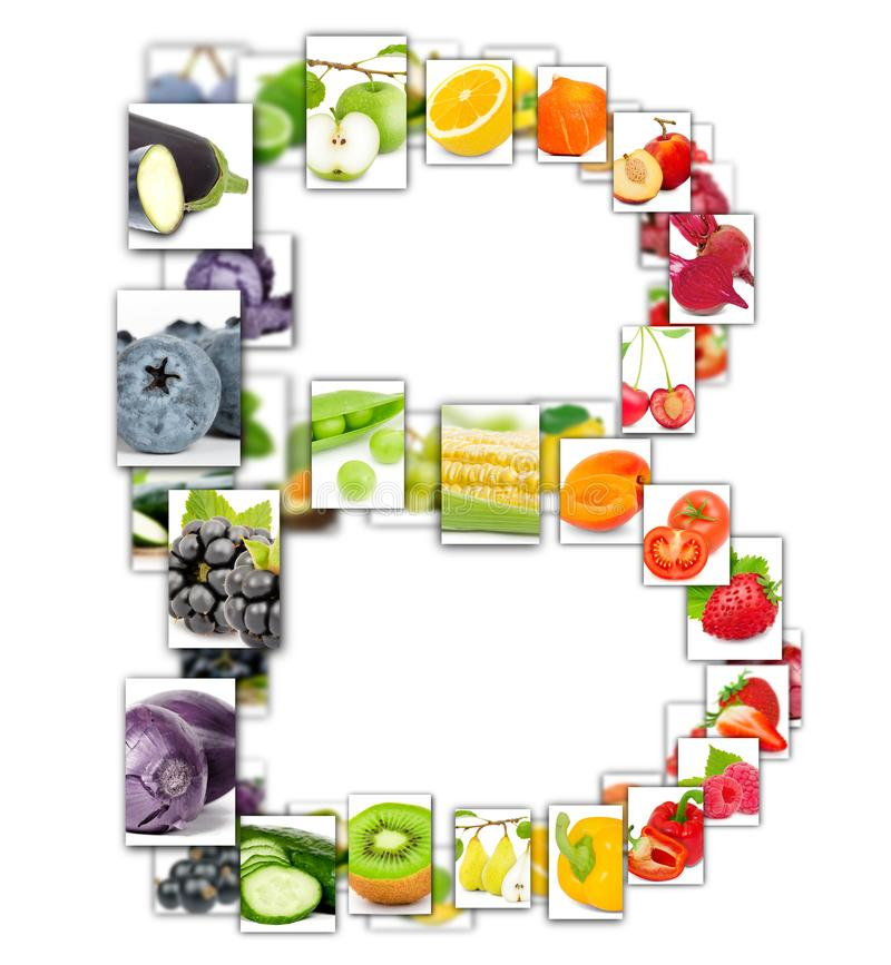 水果和蔬菜信件 向量例证