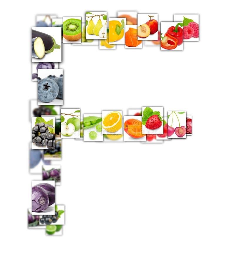 水果和蔬菜信件 库存图片