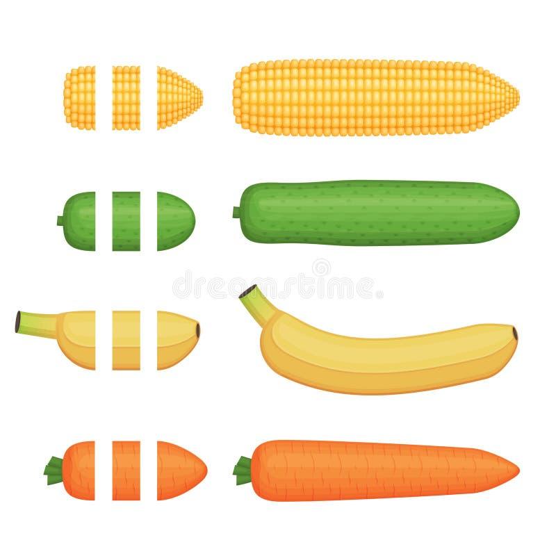 水果和蔬菜无缝的装饰刷子 皇族释放例证