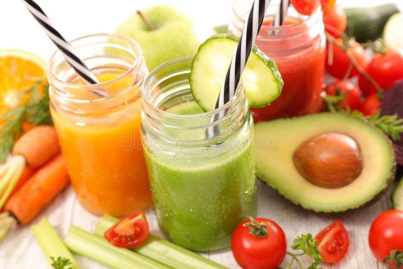 水果和蔬菜汁 库存照片