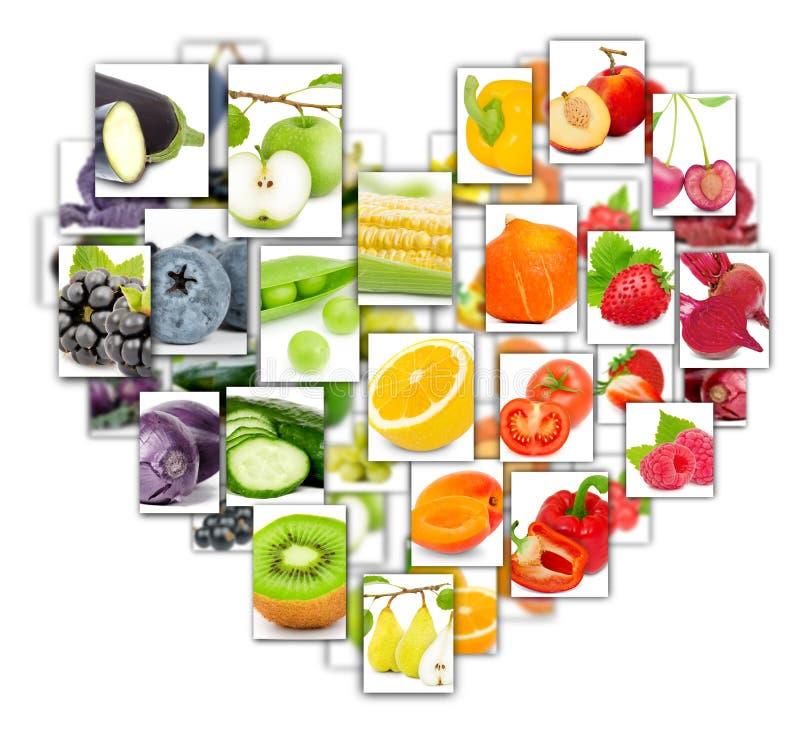 水果和蔬菜混合 向量例证