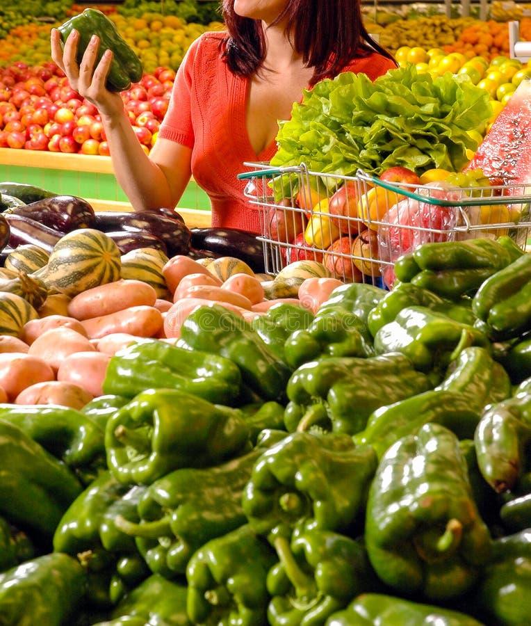水果和蔬菜超级市场 免版税库存图片