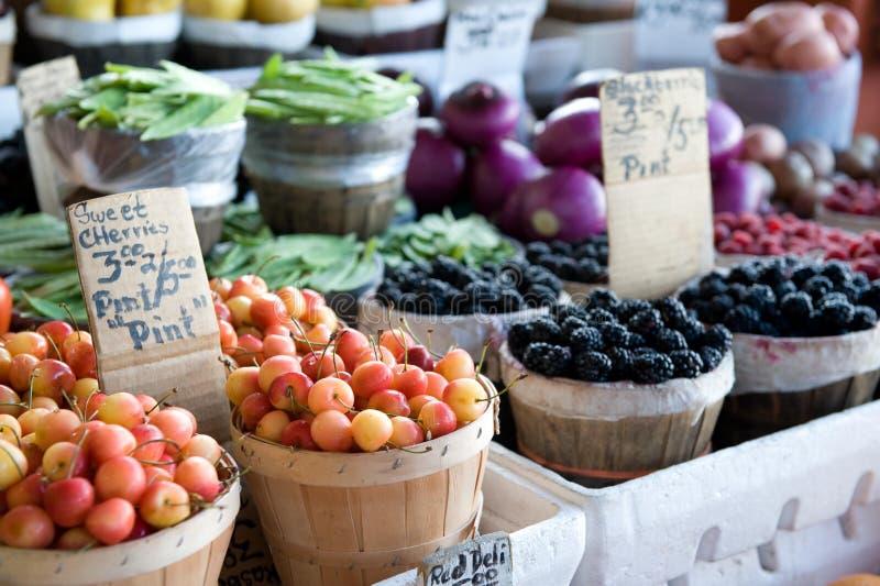 水果市场蔬菜 库存照片
