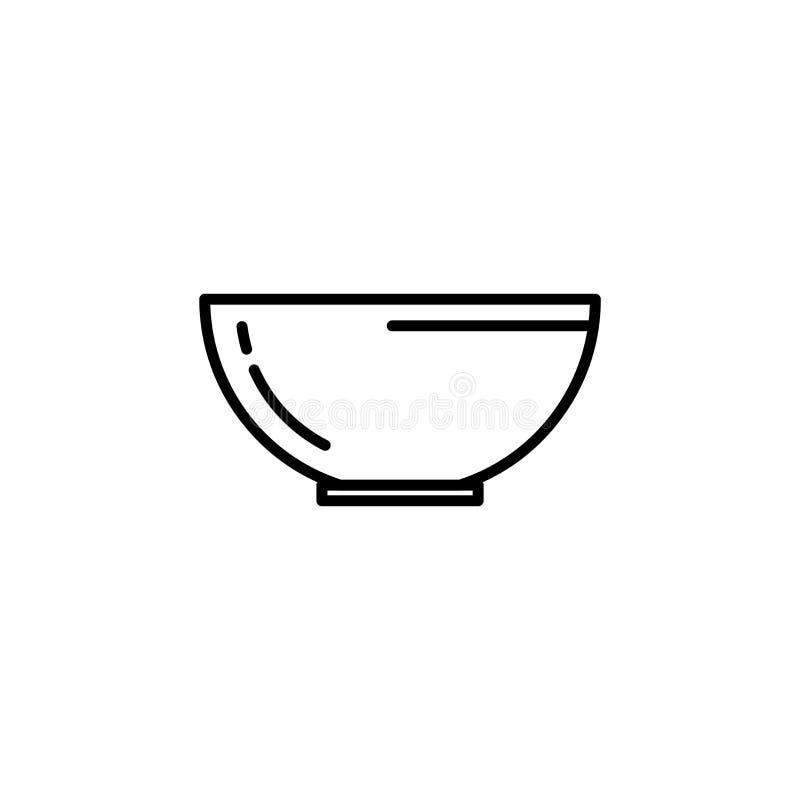 水果或蔬菜滚保龄球象 烹调的例证厨房器具 简单的稀薄的线型标志 皇族释放例证