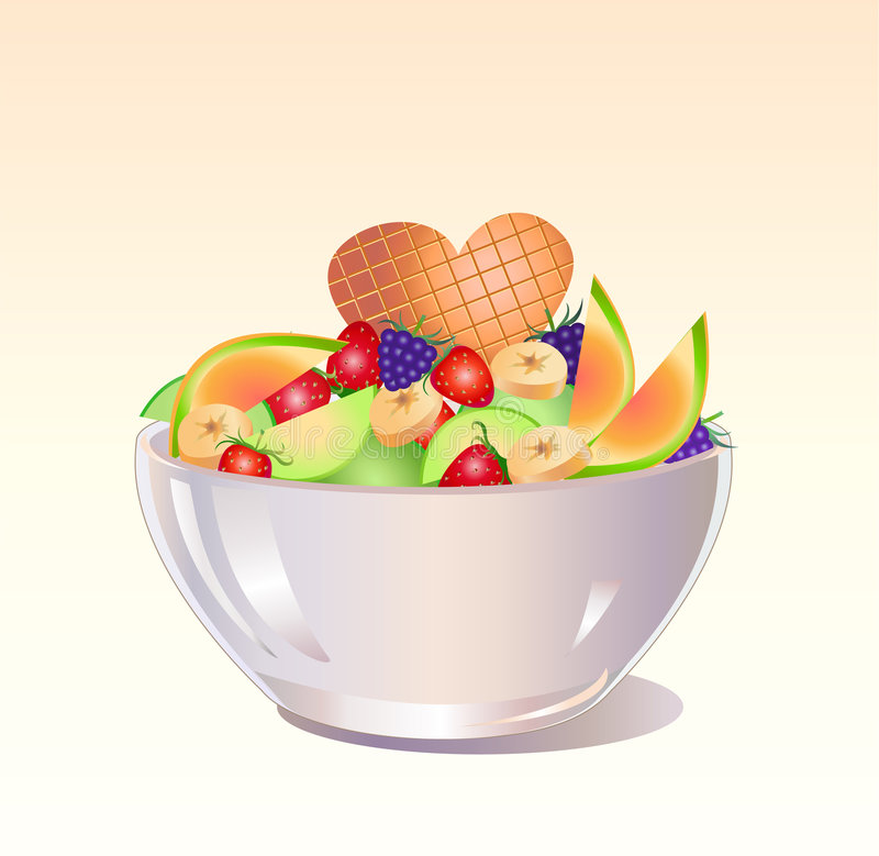水果沙拉 向量例证