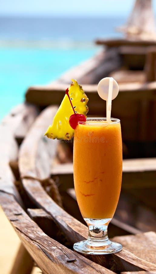 水果bocal的鸡尾酒 库存照片