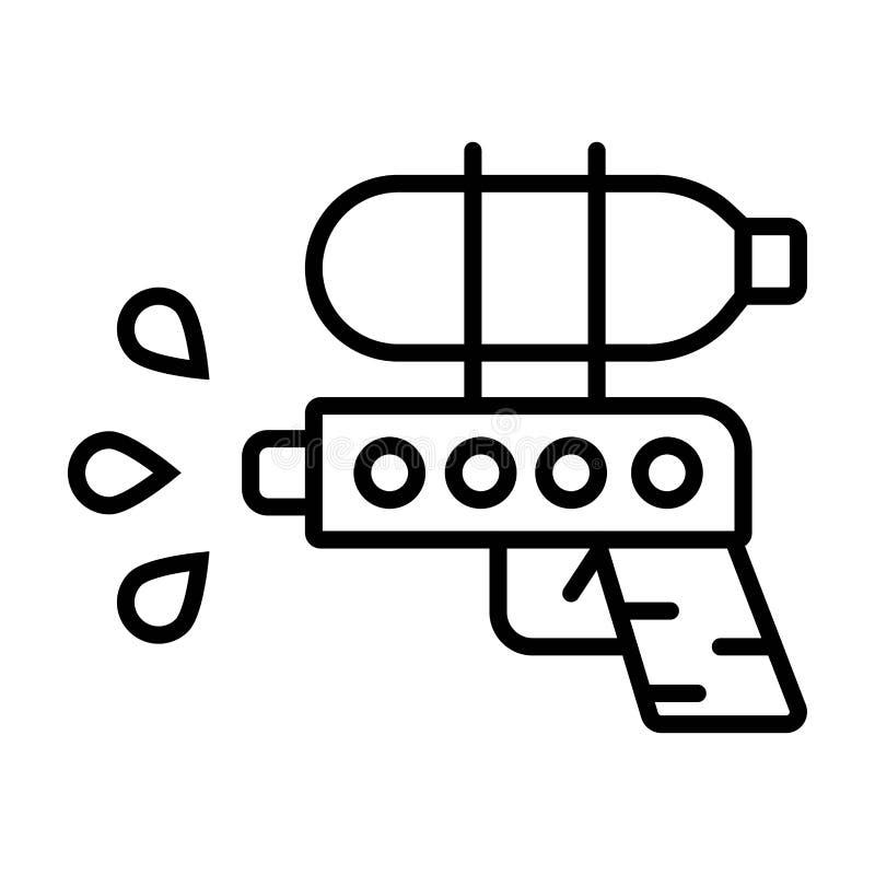 水枪象 向量例证