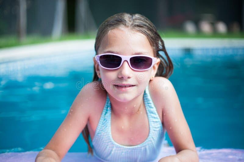 水橇板的女孩 库存图片
