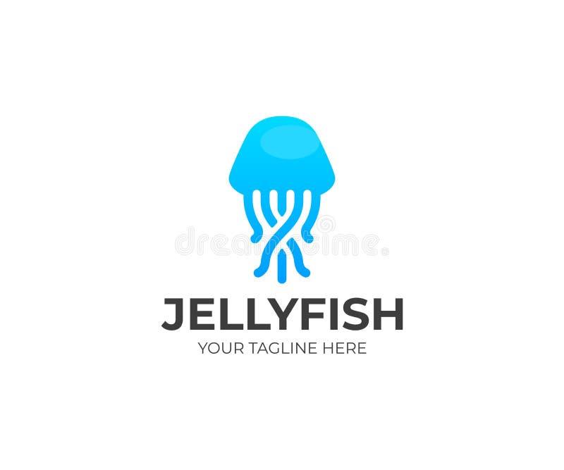 水母商标模板 Sealife传染媒介设计 皇族释放例证