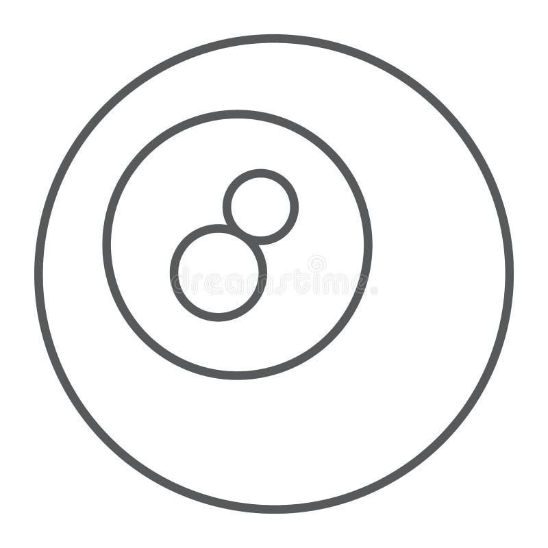 水池球稀薄的线象,比赛和体育,球 向量例证