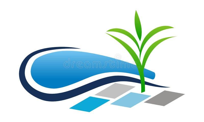 水池风景设计建筑 向量例证