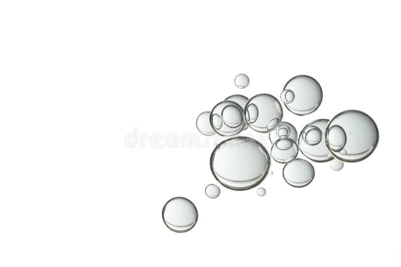水泡影腾飞白色 库存照片