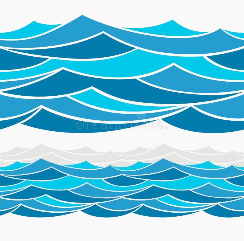 水波摘要设计 皇族释放例证