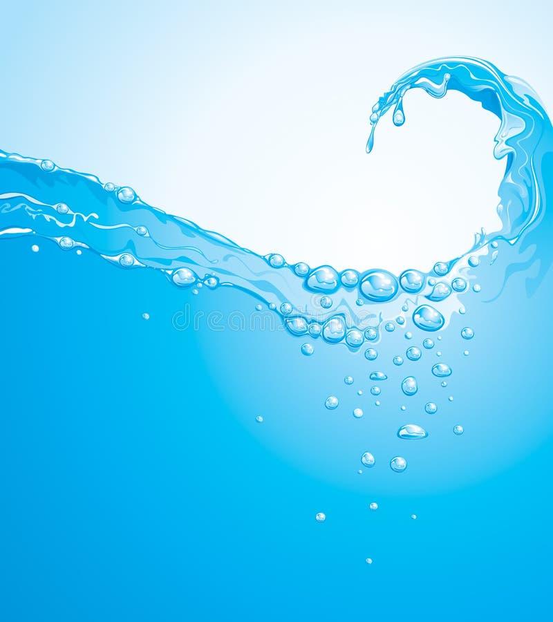 水波 向量例证