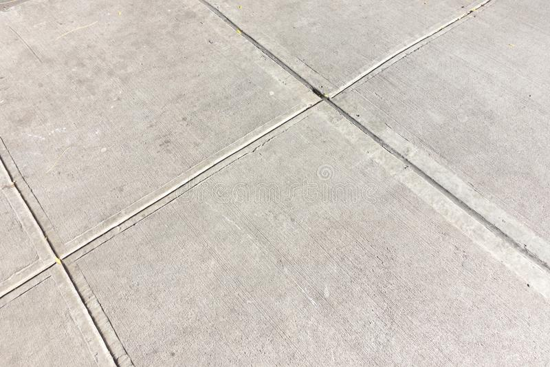 水泥小路步行方式从上面 库存图片