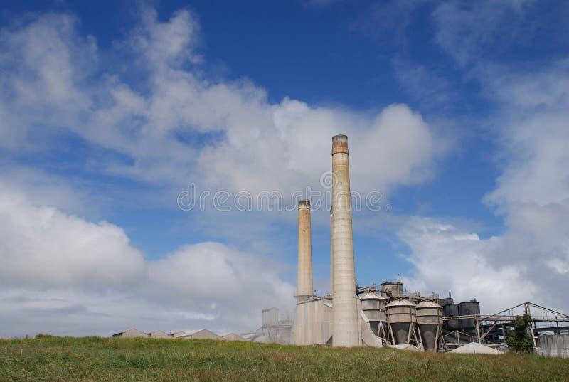 水泥工厂 免版税库存照片