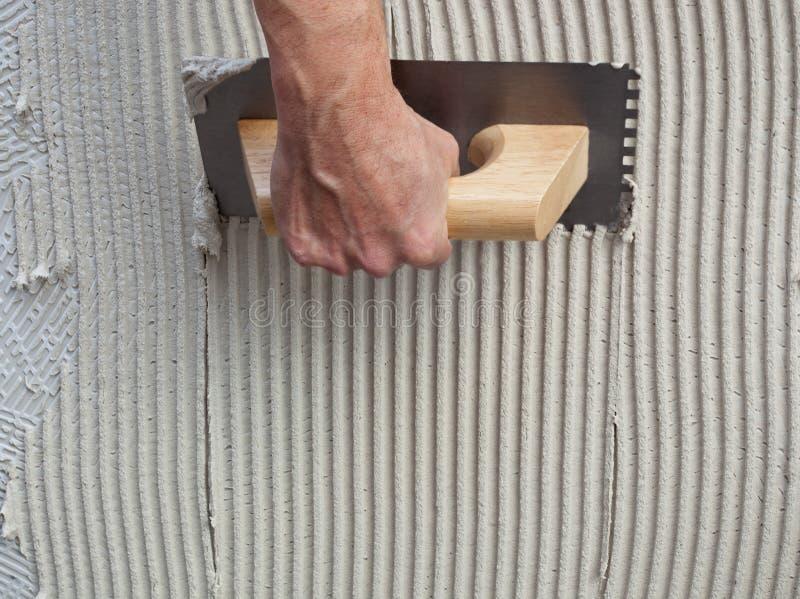 水泥建筑被刻凹痕的修平刀白色 图库摄影