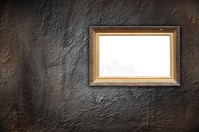 水泥框架葡萄酒墙壁 库存照片