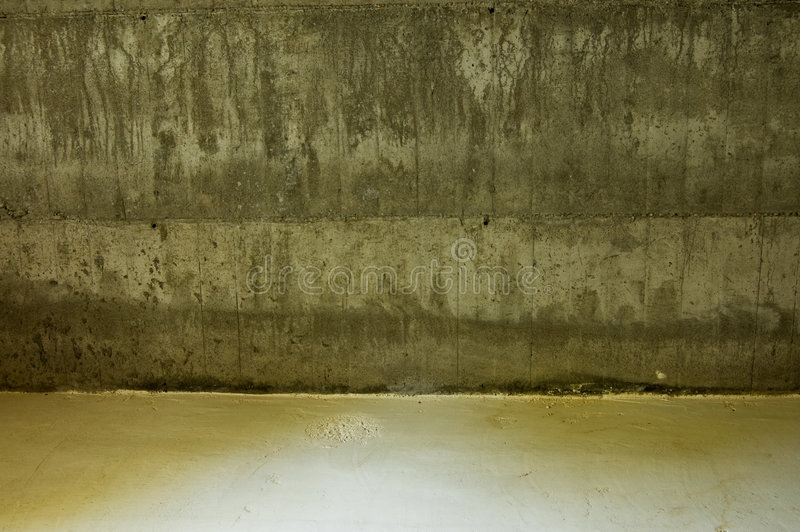 水泥楼层墙壁 免版税库存照片