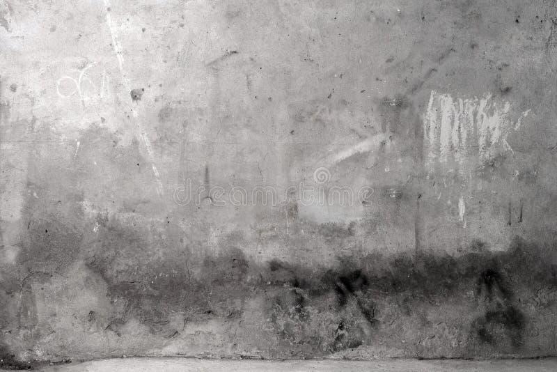 水泥灰色grunge墙壁 免版税图库摄影