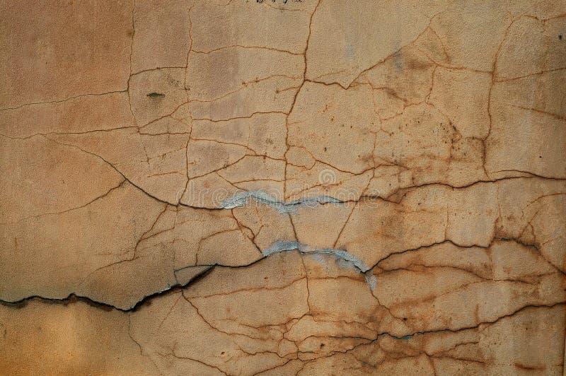 水泥破裂的灰泥纹理墙壁 免版税图库摄影