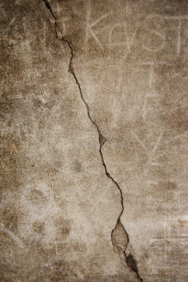 水泥破裂的grunge 免版税库存照片