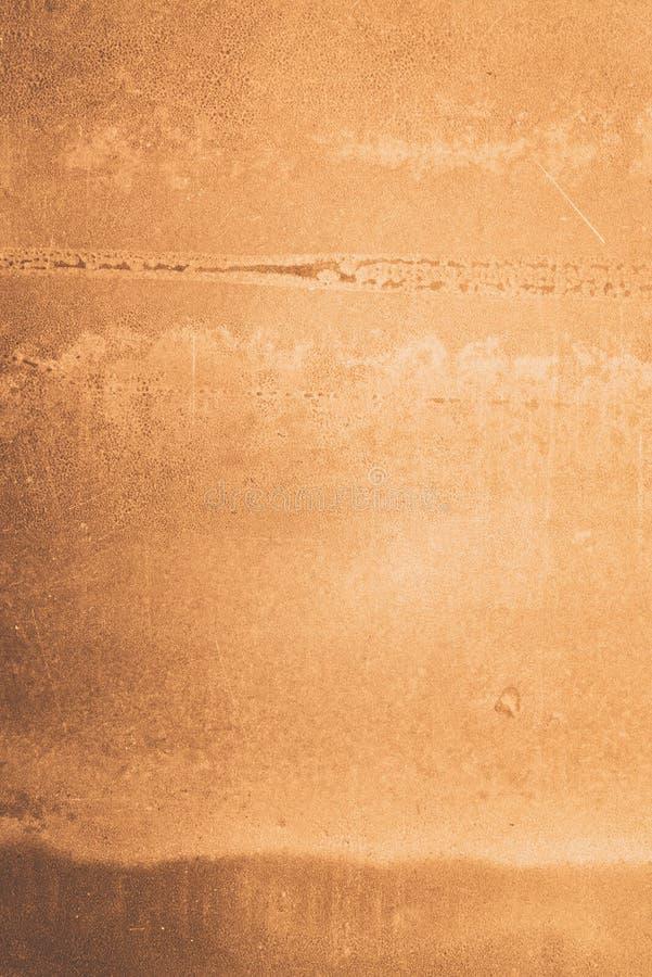 水泥黄色墙壁背景 库存图片