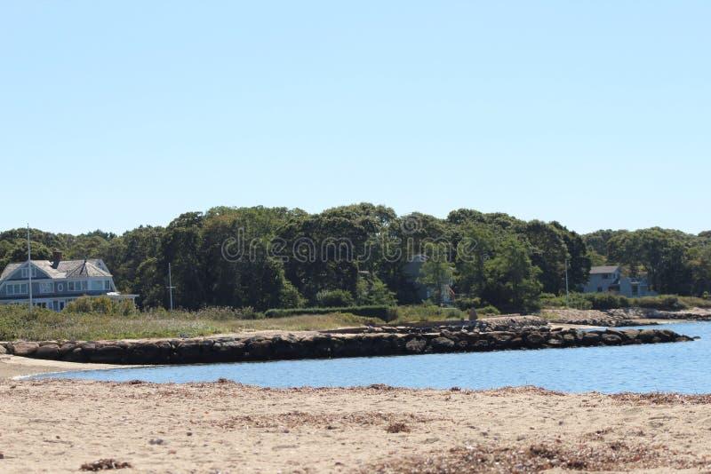 水海滩视图 免版税库存图片
