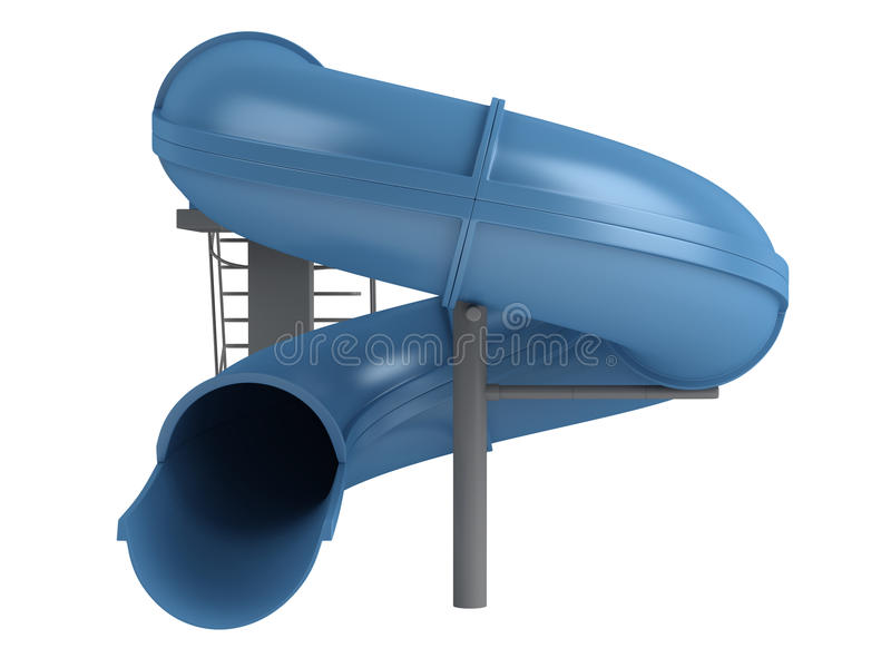 水滑道 向量例证