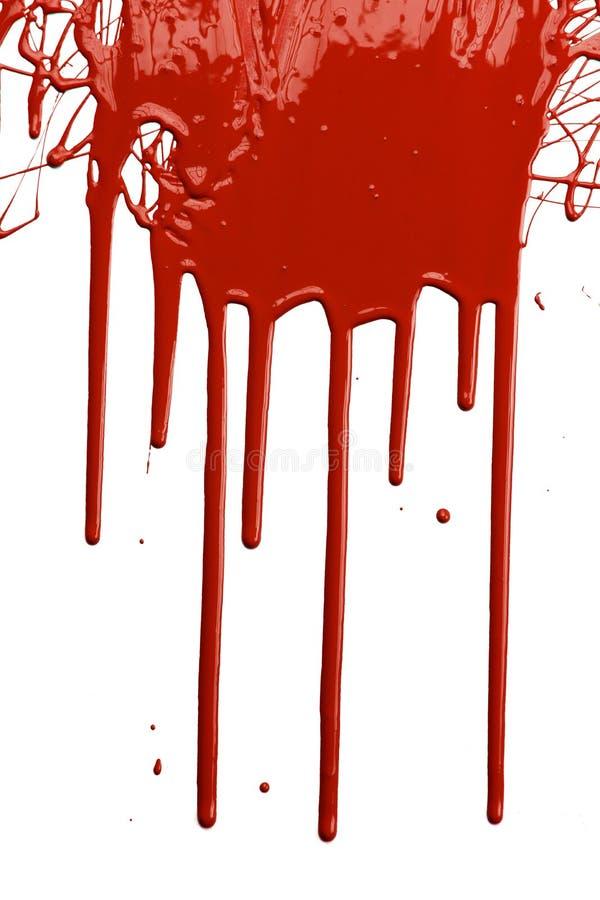 水滴油漆红色 免版税库存照片