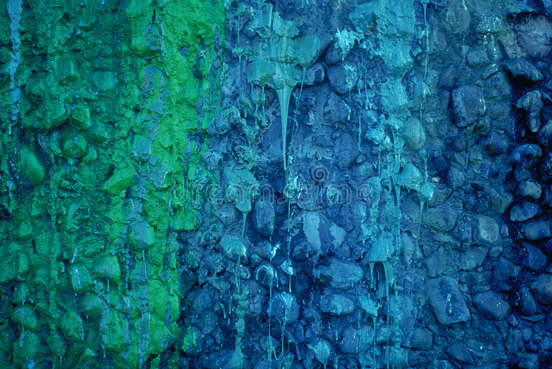 水滴油漆 免版税库存照片