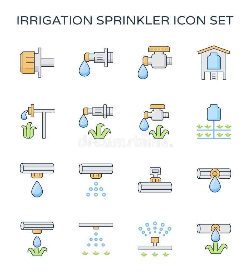 水滴灌溉象 库存例证