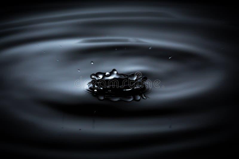 水滴起波纹水波的池塘波纹 免版税库存照片