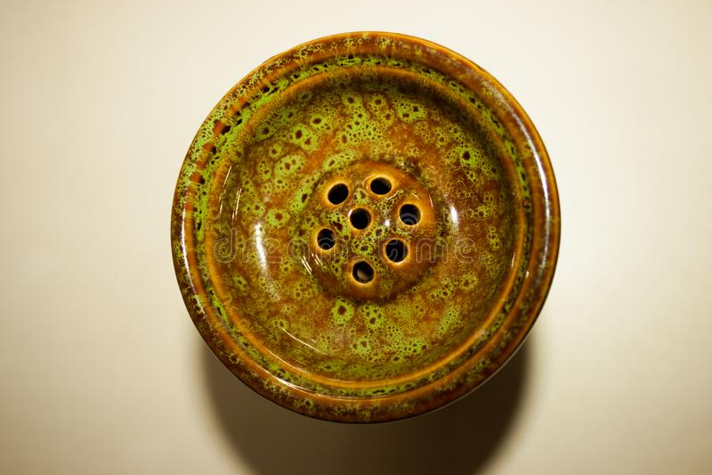 水烟筒烟草的水烟筒碗 库存图片