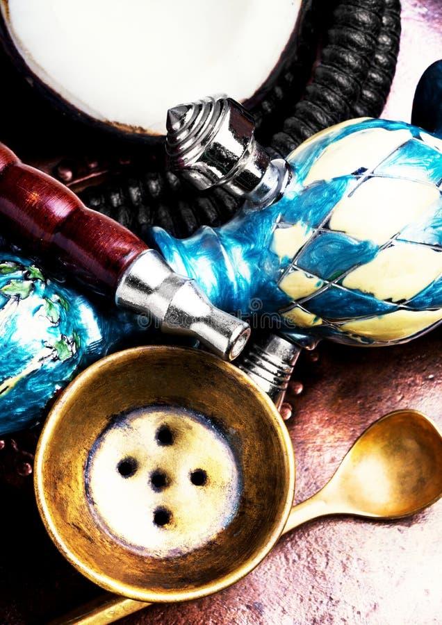 水烟筒用椰子 库存图片