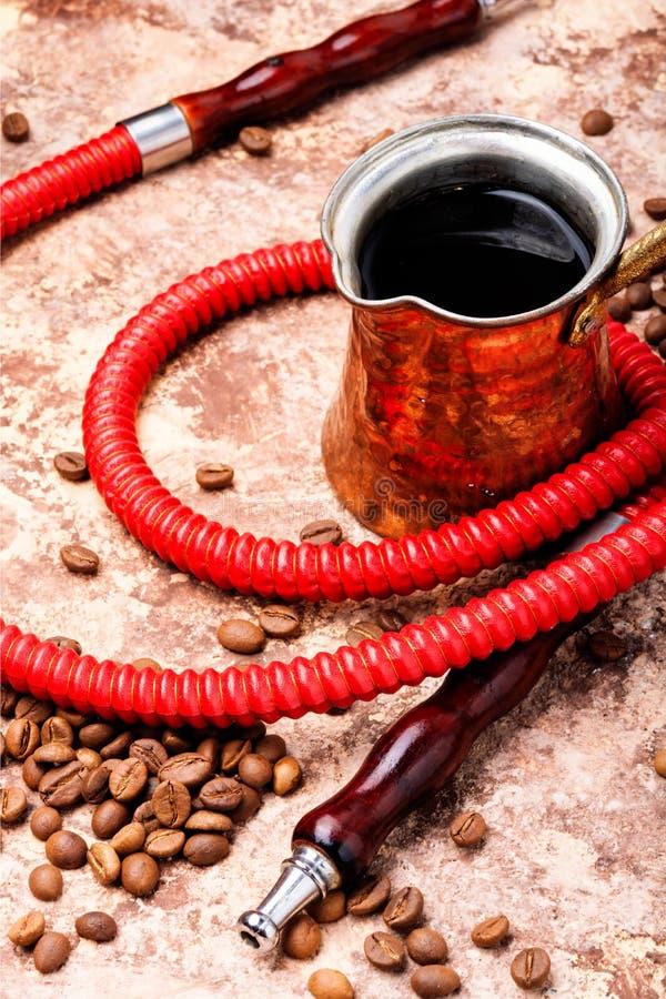 水烟筒用芳香咖啡 库存图片