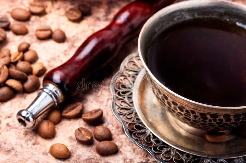 水烟筒用芳香咖啡 库存照片