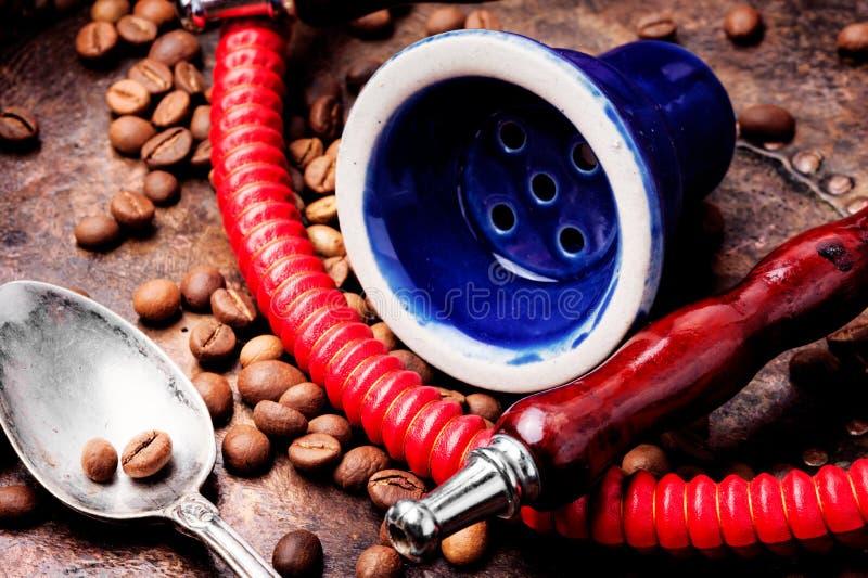 水烟筒用芳香咖啡 免版税库存图片