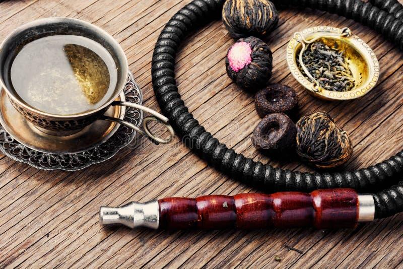 水烟筒用芳香茶 免版税库存图片