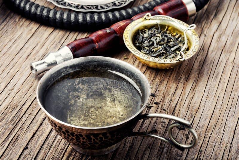 水烟筒用芳香茶 图库摄影
