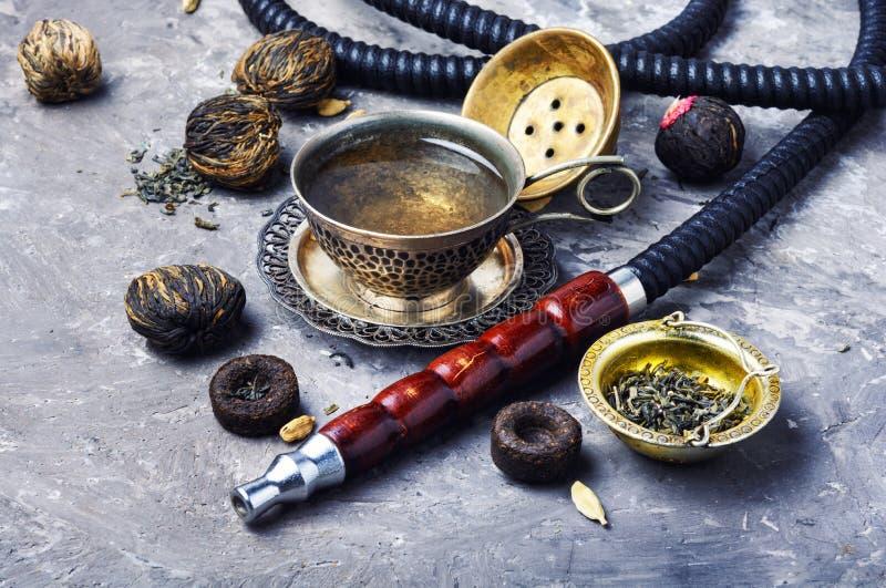 水烟筒用芳香茶 库存图片
