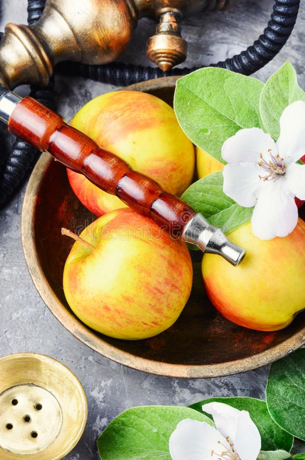 水烟筒用苹果 库存照片